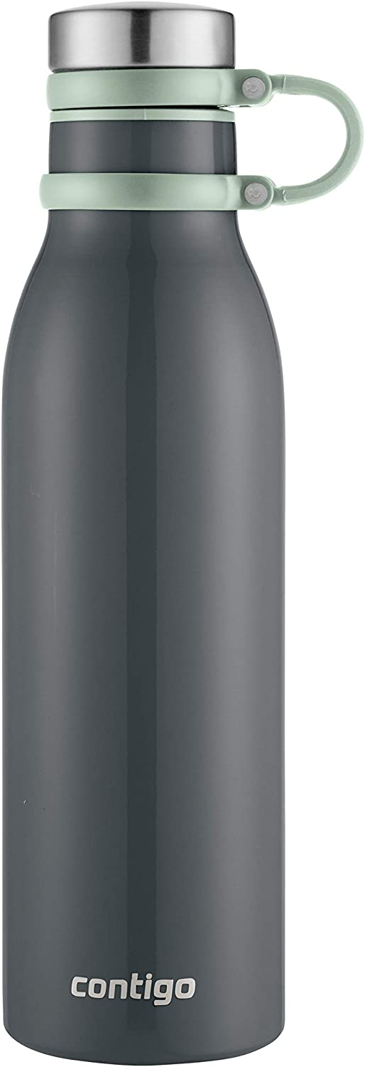 Contigo Couture Vacuum Insulated Stainless Steel Water Bottle, 20 oz, Metallic Mussel