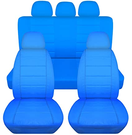 Terrific Solid Car Seat Covers W 5 2 Front 3 Rear Headrest Covers Light Blue Semi Custom Fit Full Set Will Make Fit Any Car Truck Van Suv 22 Ibusinesslaw Wood Chair Design Ideas Ibusinesslaworg
