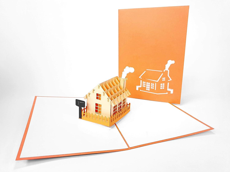 Tarjeta 3D Pop Up Our New Home. inauguración de la casa. Tarjeta ...
