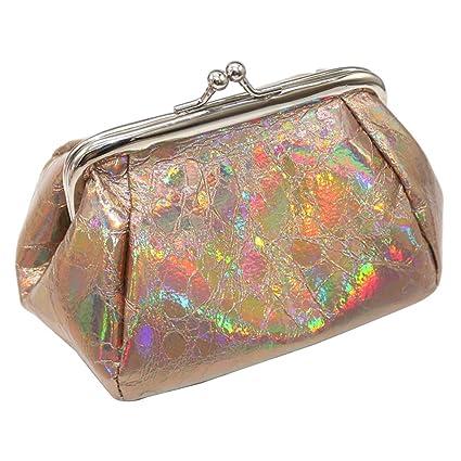 Feli546Bruce - Neceser holográfico de Moda para Mujer, con ...