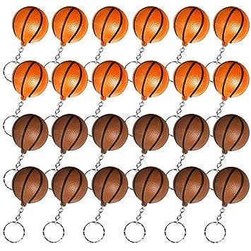 Heqishun 24 Llaveros de Baloncesto para Favores de Fiesta y Recompensa de Carnaval Escolar Regalos Creativos para Fiesta Temática de Baloncesto ...
