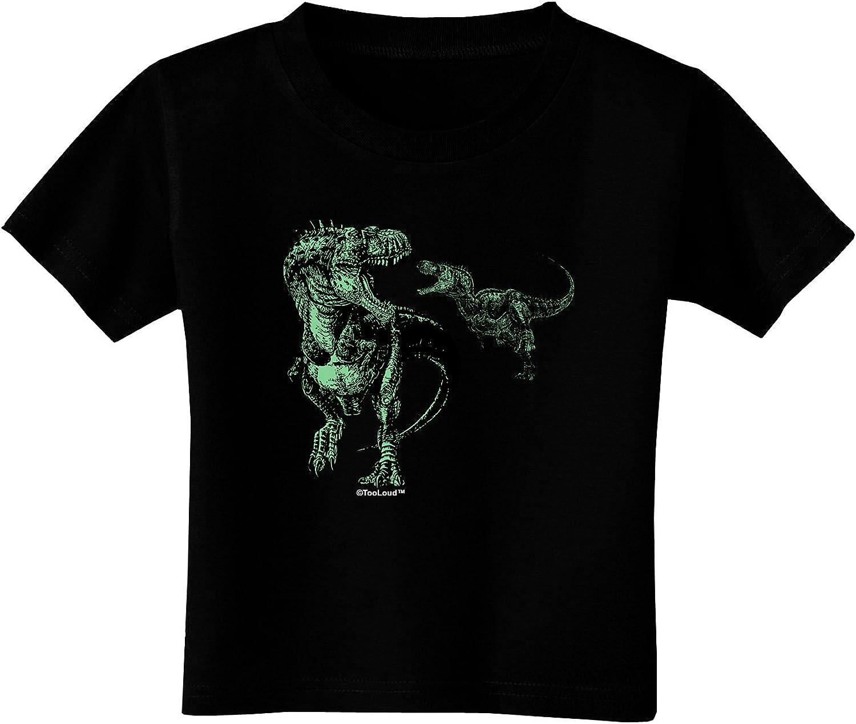 TooLoud Jurassic Dinosaur Design 1 Toddler T-Shirt Dark
