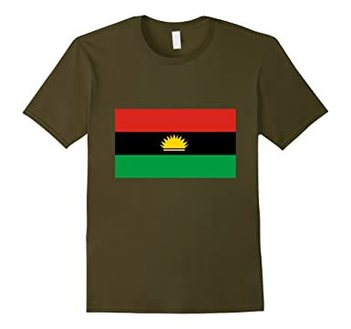 Amazon biafra flag shirts clothing mens biafra flag shirts 2xl olive thecheapjerseys Image collections