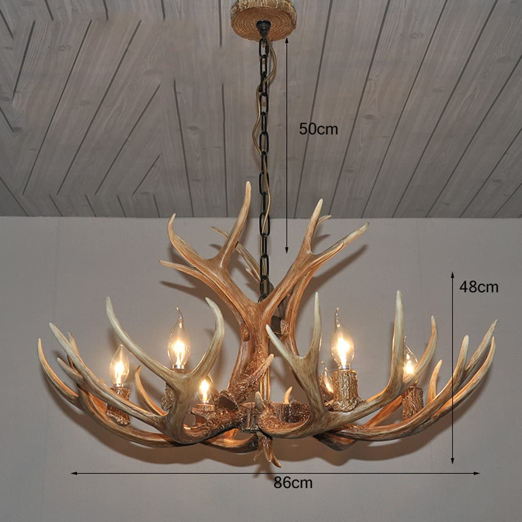 & Perfect ** - Geweihe Kronleuchter American Village Retro Wohnzimmer Lampen Restaurant Lampen Cafe Harz Continental Bar Projekt Kronleuchter A-1