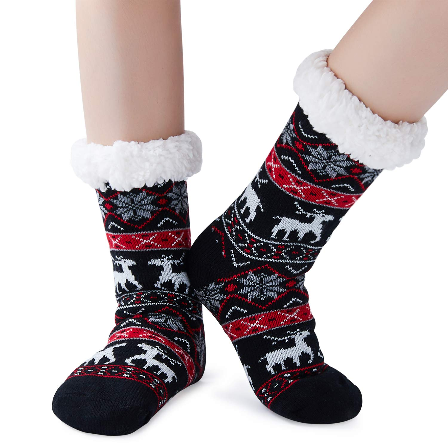 Goodstoworld 3D Socks Unisex Cool Funny Crazy Printed Athletic Crew Tube Socks, Christmas-10, One Size