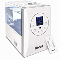 Levoit Ultrasonic Humidifiers, Warm and Cool Mist Humidifier with Remote, 6L/1.6 Gallon Large Capacity with Humidity Sensor, Touch Control Panel, Adjustable Mist and Humidity Levels, Timing Setting for Home Bedroom Larger Office, Filter Free, LV600HH
