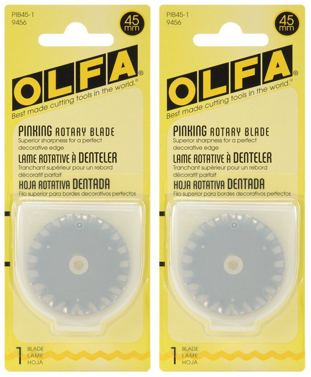 1-Pack OLFA 9456 PIB45-1 45mm Stainless Steel Pinking Blade