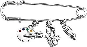 FAADBUK Artist Gift Painter Gift Art Teacher Gift Art Student Gift Art School Graduation Gift Painting Girl Gift Art Palette Jewelry