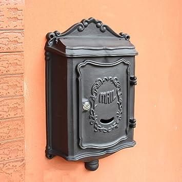 CQ Villa Letter Box Panel Frontal Exterior Fundido de Aluminio Inoxidable Caja de Periódicos Al Aire Libre Colgante de Pared Buzón de Correos Europeo Pared ...