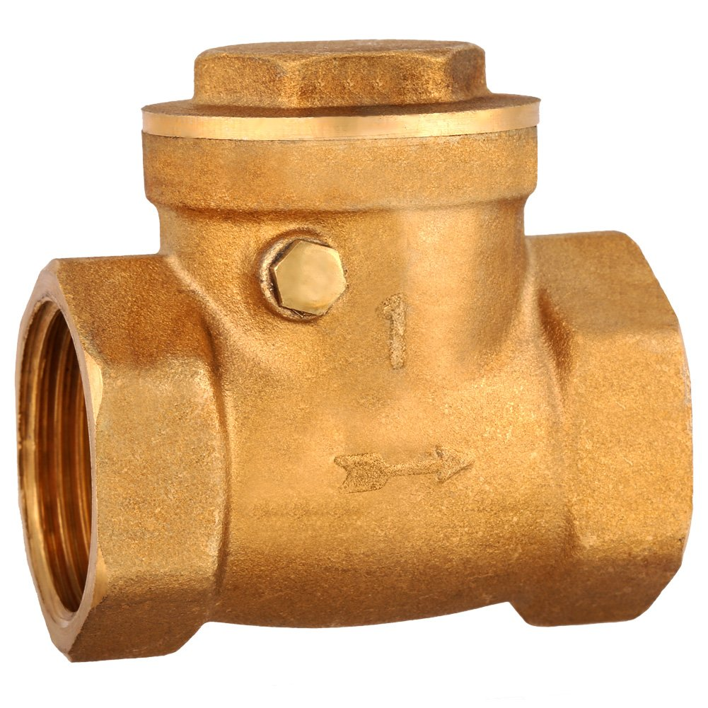 1pc DN25 Female Thread Brass Non-Return Swing Check Valve 232PSI Prevent Water Backflow Convenient Durable Brass Check Valve