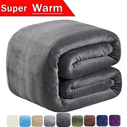 Amazon.com  SOFTCARE Fleece Blanket Queen Size 350GSM Throw Blanket ... 33525a66e47e9