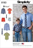 Men and Boy's Shirt, Boxer, Short, and Tie Sewing Patterns