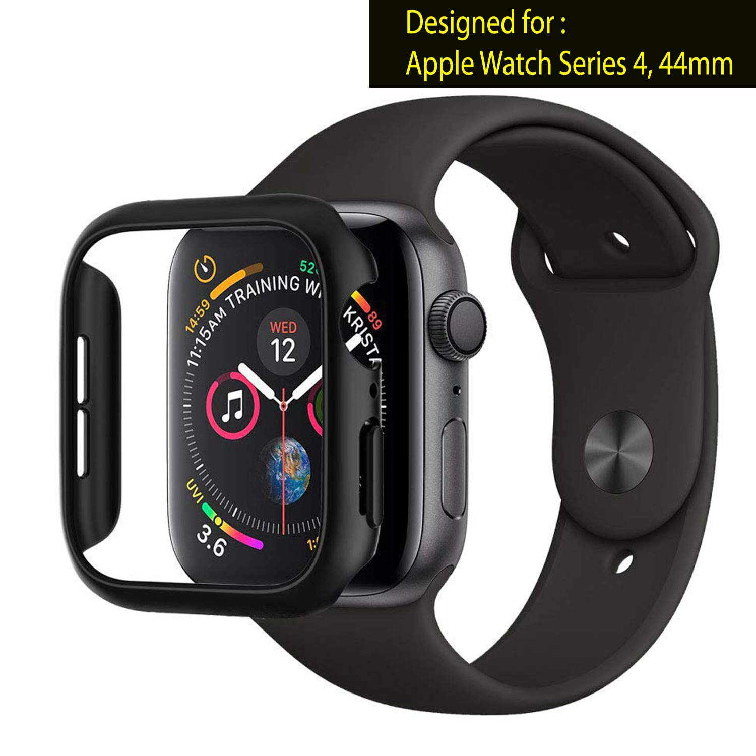 OJOS Thin Fit Designed Case Compatible with Apple Watch Case for 44mm Series 4 (2018) - Black (B07MHM5FVH) Amazon Price History, Amazon Price Tracker