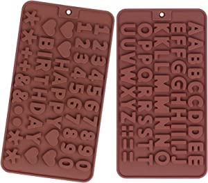 Silicone Molds For Chocolate, Cake Decorations, Cookie DIY Home Kitchen Tool For Party & Festival Dessert Of BonPlat 2pcs (Style 1)