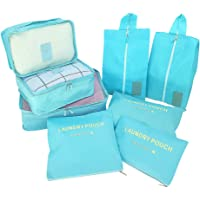 Packing Cubes Value Set for Travel - 8pcs Sets Travel Storage Bag Organizer Luggage Compression Pouches
