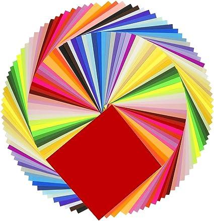 Amazon.com: 200 hojas Caydo de 50 colores vivos de papel de ...