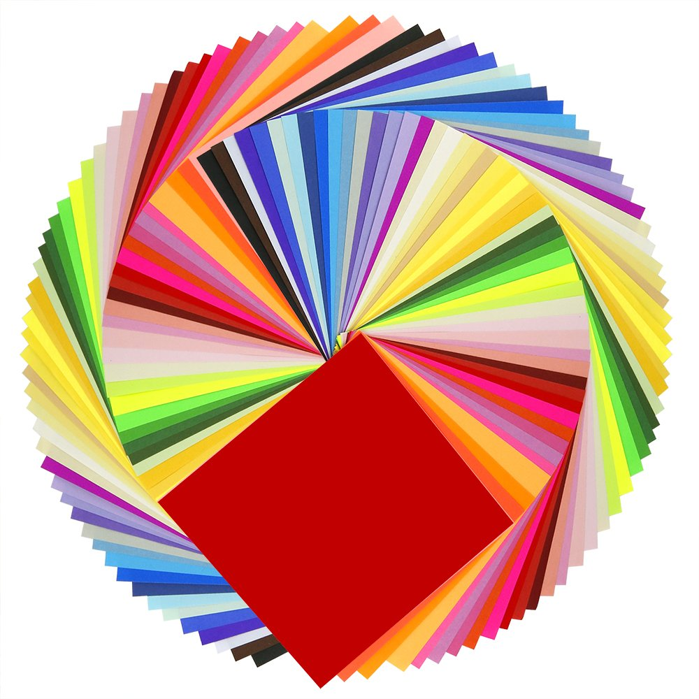 Amazon.com: Caydo 50 Vivid Colors 200 Sheets Origami Paper 6-Inch by ...