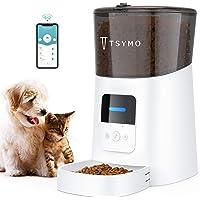TSYMO Alimentador automático para gatos, dispensador de alimentos para mascotas con control de aplicación de 6 litros…