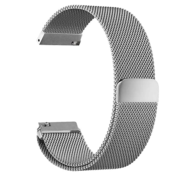 Amazon.com: Hua Wei Watch Band, Magnetic Milanese Loop ...