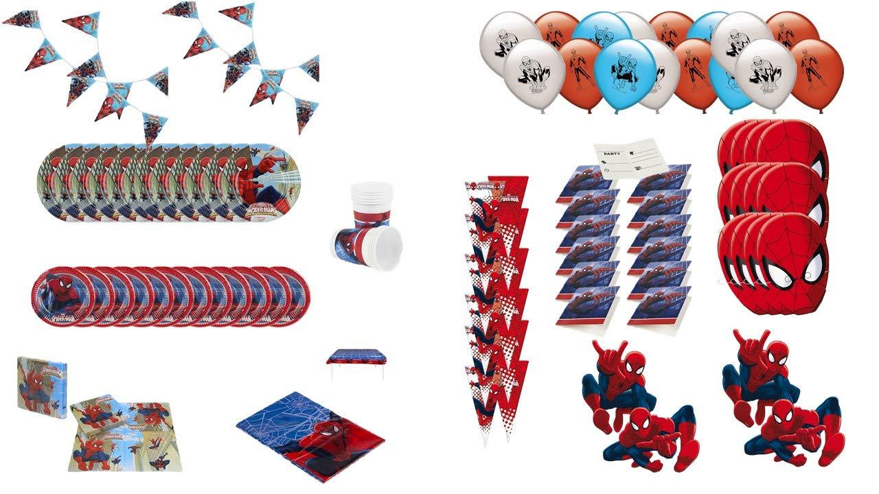 ALMACENESADAN 1008, Pack Fiesta y cumpleaños Spiderman, 12 ...