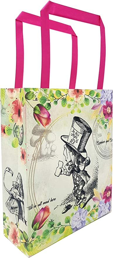 Alice in Wonderland thank you tags for goodie bags sets of 12 or 24 size can vary and colors as well!
