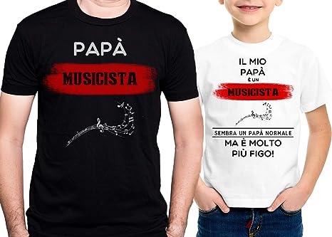 IMAGE T-Shirt Musica pap/à Musicista Figlio di Un pap/à Musicista Figo Festa del pap/à Coppia-Eventi