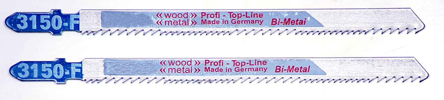 Dark Blue 132 mm Set of 2 Pieces Connex COM300117 Coarse//Milled Jigsaw Blade for Wood