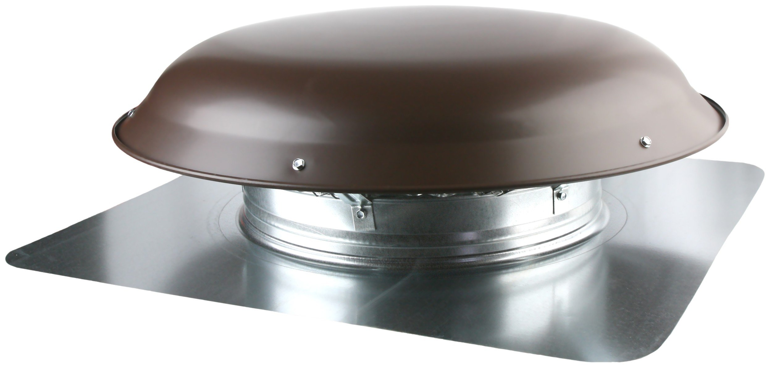 Ventamatic VX25 BRNUPS Static Galvanized Steel Dome and Flange Roof Vent, Brown