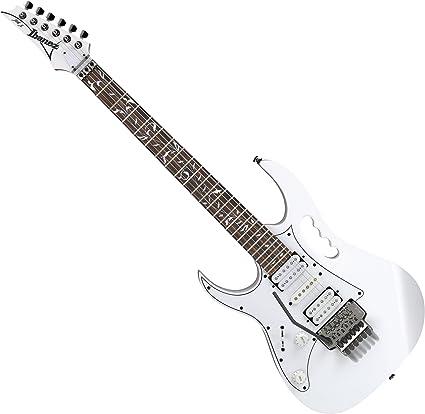 Ibanez Jem Jr Junior Lefty zurdos Steve Vai Firma guitarra eléctrica, color blanco: Amazon.es: Instrumentos musicales