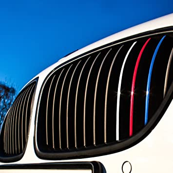 Amazoncom Wandkings Grille Stripe Decals For Kidney Grills - Bmw grille stripe decals