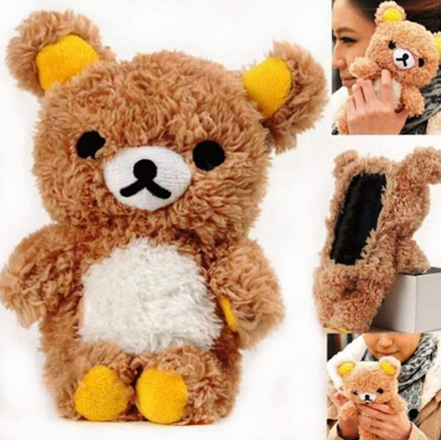 """Fusicase 6 Plus/6S Plus 5.5"""" Case, iPhone 6 Plus/6S Plus 5.5"""" case, Fashion Style New Cute 3D Lovely Teddy Bear Doll Toy Cool Plush Fitted Back case Cover for iPhone 6 Plus/6S Plus 5.5""""(Brown)"""