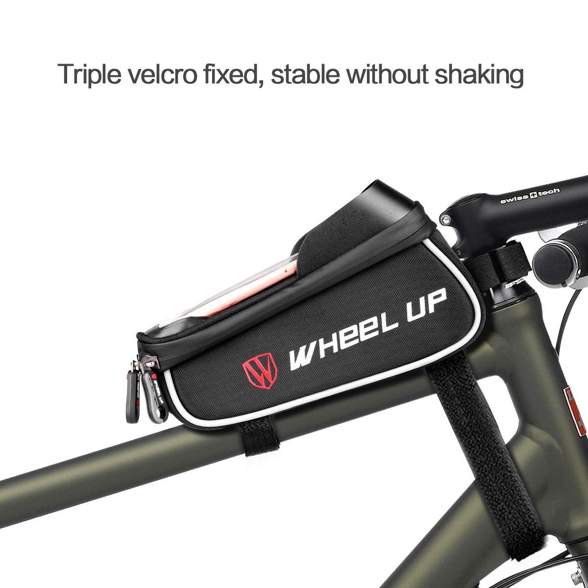 , Touch ID Schwarz Eyscoco Fahrrad Rahmentasche mit Fingerabdruck Entsperren