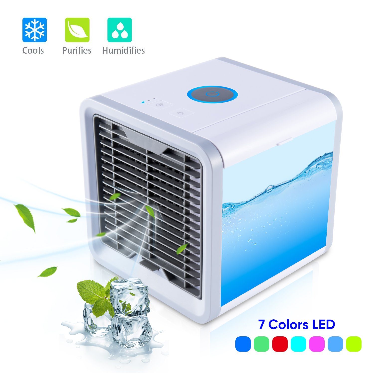 MOSCHE Personal Air Conditioner, Air Personal Space Cooler with Humidifier and Air Purifier USB Mini Portable Air Conditioner (Pack1)