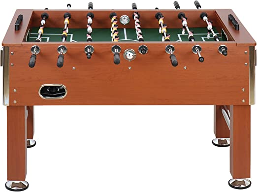 Jago - Futbolín de madera y altura regulable – color caoba: Amazon.es: Juguetes y juegos
