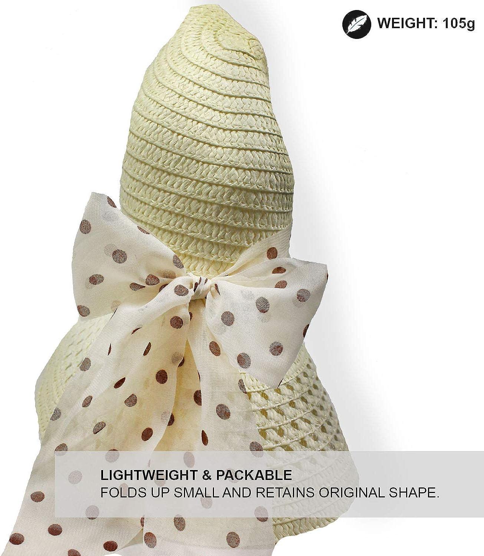 TOSKATOK/®Ladies Wide Brimmed Floppy Straw HAT