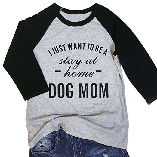 79af7f04904 kikisa Dog Mom T Shirt Women s Casual Funny Letter Print Tees 3 4 Sleeve  Tops