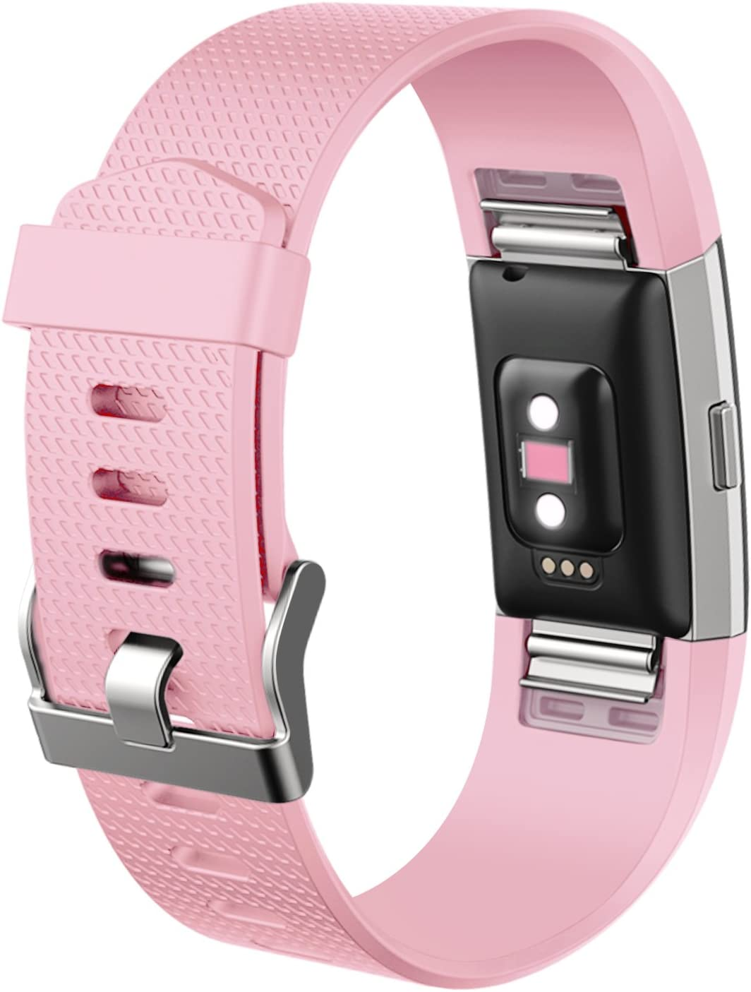 TPU Band Sport Straps with Metal Clasp Mornex Strap Compatible Fitbit Charge 2 Classic Adjustable Wristband Replacement Small