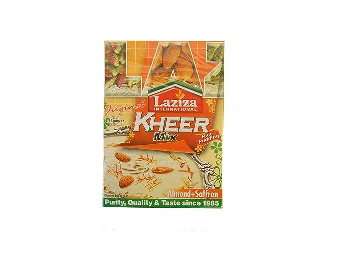 Laziza Kheer (Rice pudding) Mix Almond Safforon - mezcla para arroz con leche con