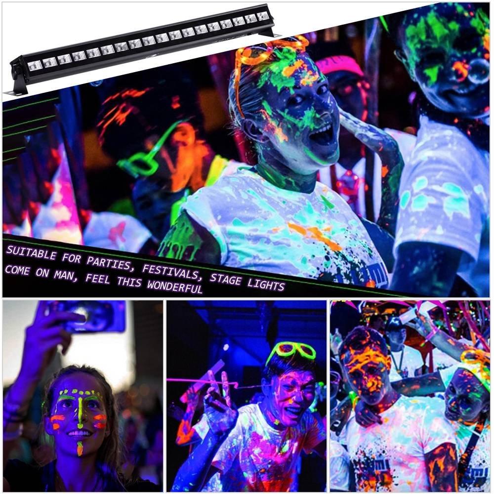 UV LED Black Light 3Wx18 LED Bar Lighting for Parties Halloween Club Metal Housing by U`King (54.00) by U`King (Image #3)
