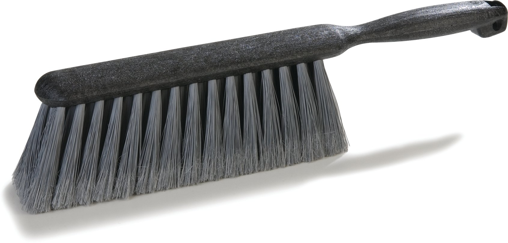 Carlisle 3621123 Flo-Pac Counter/Bench Brush With Flagged Polypropylene Bristles 8'' - Gray (12 PER CASE)