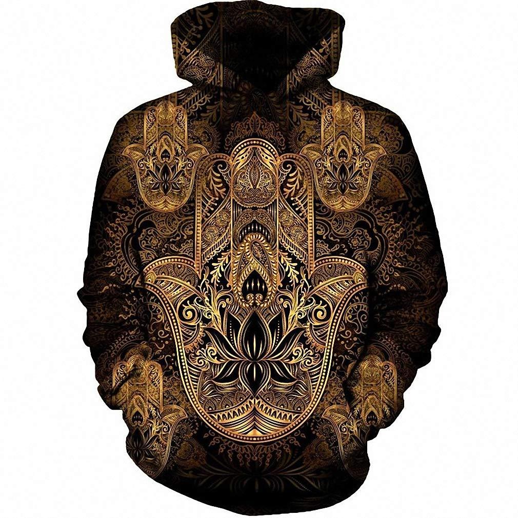 Emlyn Adrian Hand of Fatima Hoodies Men Long Sleeve Hooded Sweatshirt Pullover Tracksuit