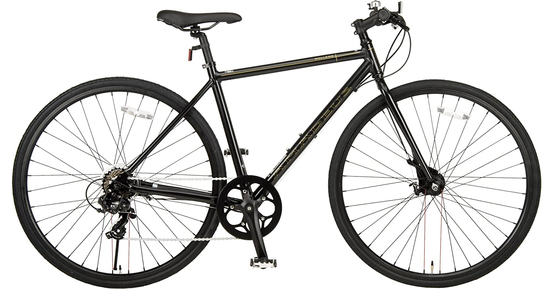 JEFFERYS(ジェフリーズ) ジェフリーズ 自転車 クロスバイク 700x28C AMADEUS シマノ7段変速 前後 ローラーブレーキ アルミフレーム ブラック JP8702 ブラック B07DH6WJ1V