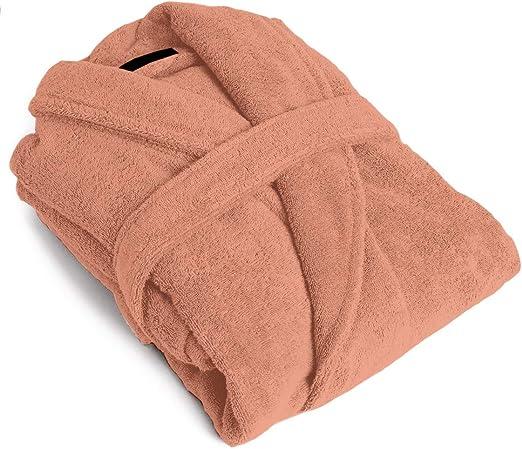 PimpamTex – Albornoz Unisex 100% Algodón con Cuello Tipo Smoking para Hombre y Mujer - (S, Maquillaje): Amazon.es: Hogar