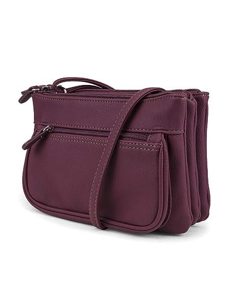 05b598e760 Koltov Trilogy Hunter Crossbody Bag, burgundy: Handbags: Amazon.com