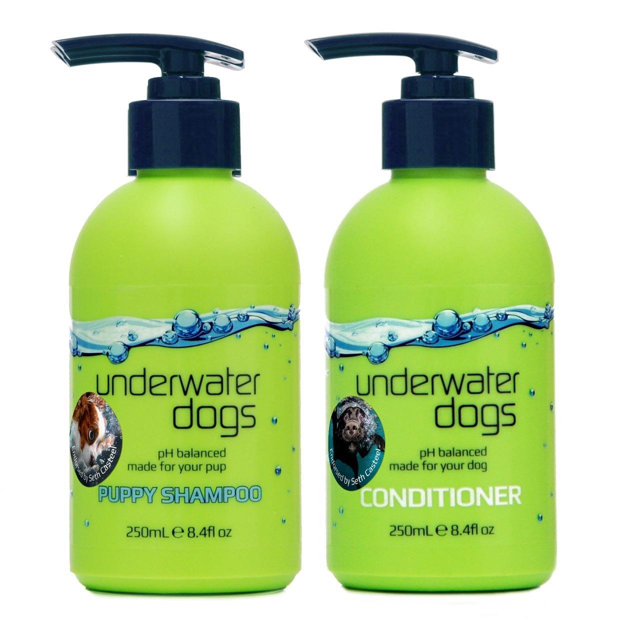 Underwater Dogs - Moisturizing Puppy Shampoo & Conditioner for Dry Skin - 8.4 fl. oz. Vanilla-Coconut