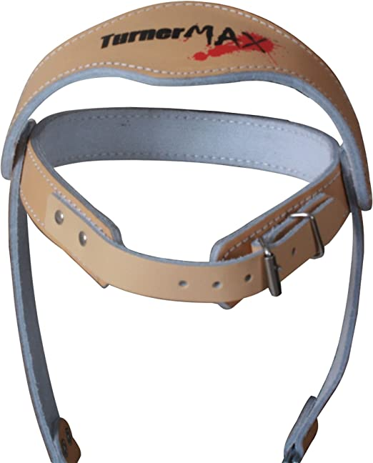 TurnerMAX Leather  Head Harness Belt Dipping Training Weight Lifting Gym Boxing