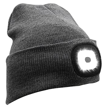 8c1e9b04a468a Genuva USB Rechargeable Led Knitted Beanie Hat