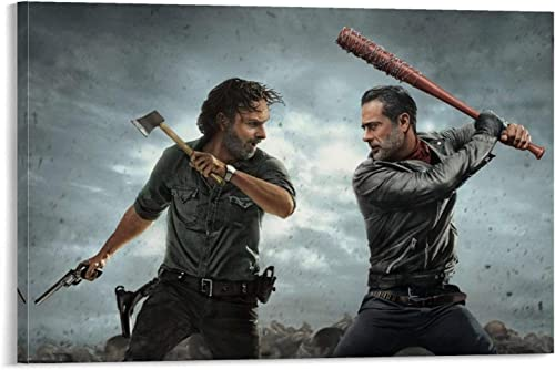 ZXCVM The Walking Dead 17 Vintage Classic Movies TV Oil Painting on Canvas Posters and Prints Decoracion Wall Art Picture Living Room Wall Posters 24x36inch 60x90cm