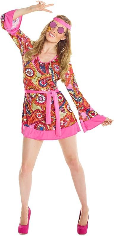 Mens 60/'s 1960s Hippie Hippy Groovy Retro Adult Flares Fancy Dress Costume Wig
