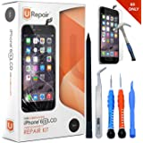 iPhone 6s Screen Replacement Black LCD Premium Complete Repair Kit with Tools -Easy Manuals Videos and Instructions with Glass Screen Protector,3D Touch 6s New Touch Panel Display Digitizer Assembly